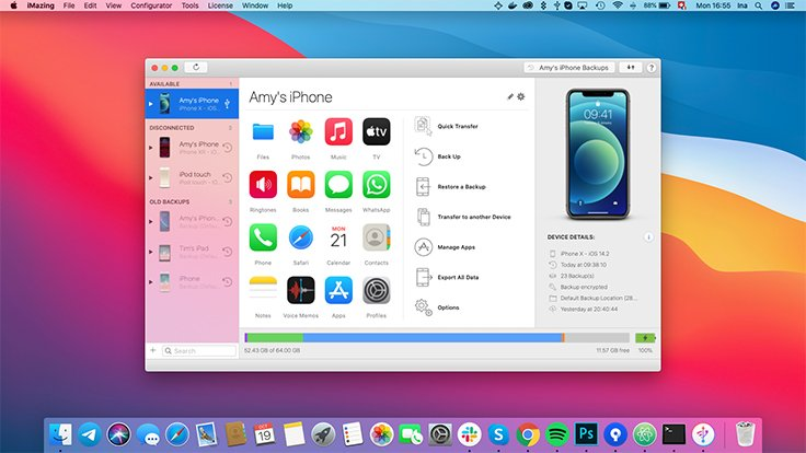 iMazing | iPhone, iPad & iPod Manager for Mac & PC