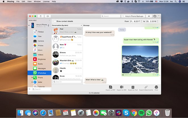 Easily backup, export or print your WhatsApp Chats! | iMazing