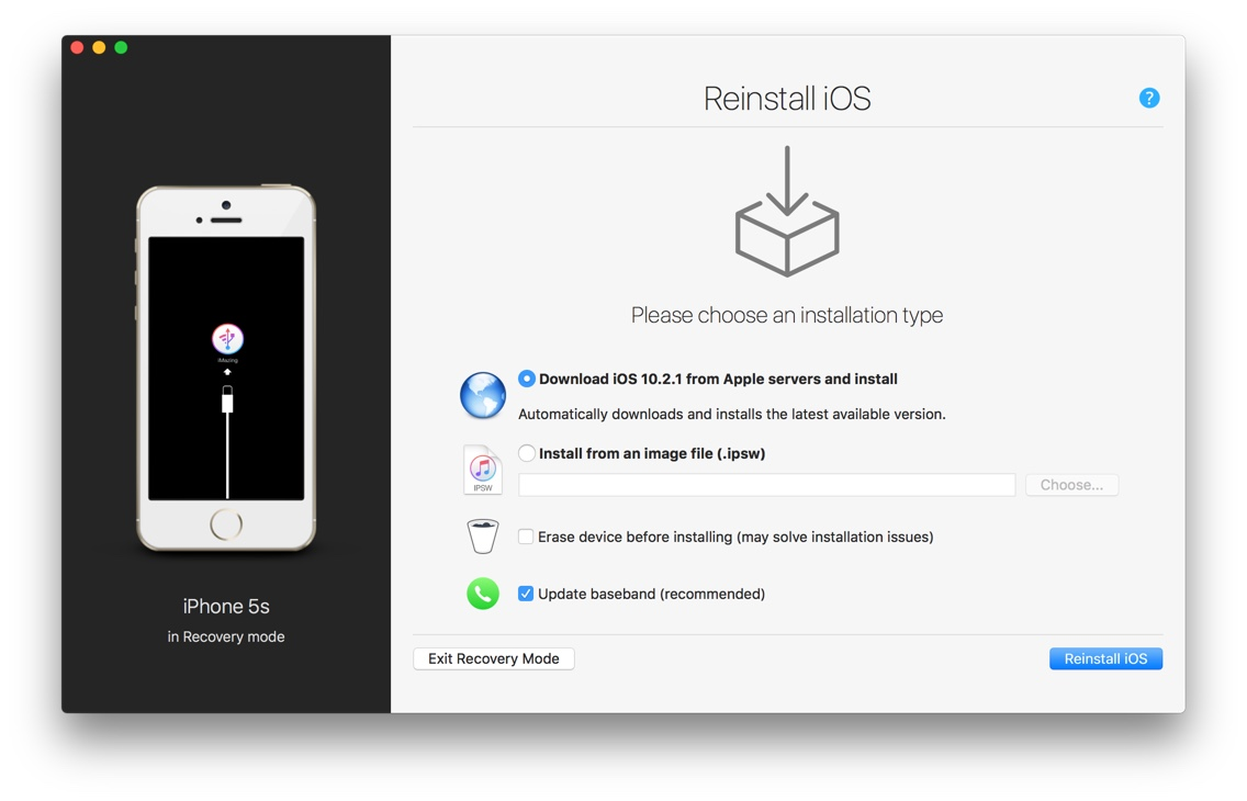 New iOS Device Management Features in iMazing 2.2