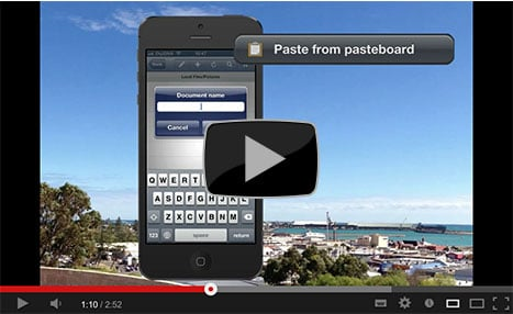 FileApp Pasteboard Creates Documents in a Tap