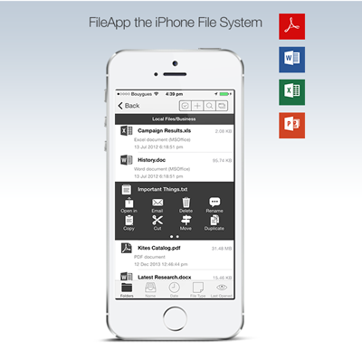 FileApp the iPhone File System