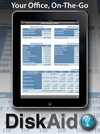 iPad file management with DiskAid