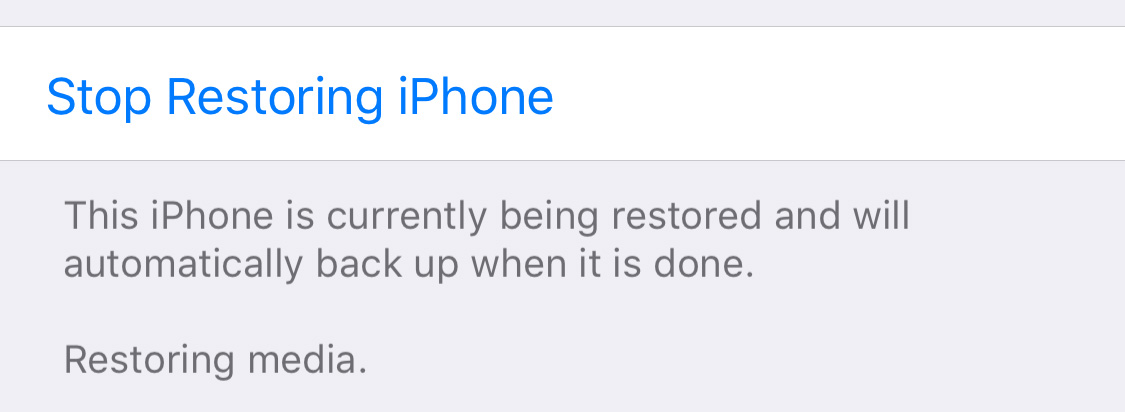 Fix iCloud restore error 'Purchase of this item is not