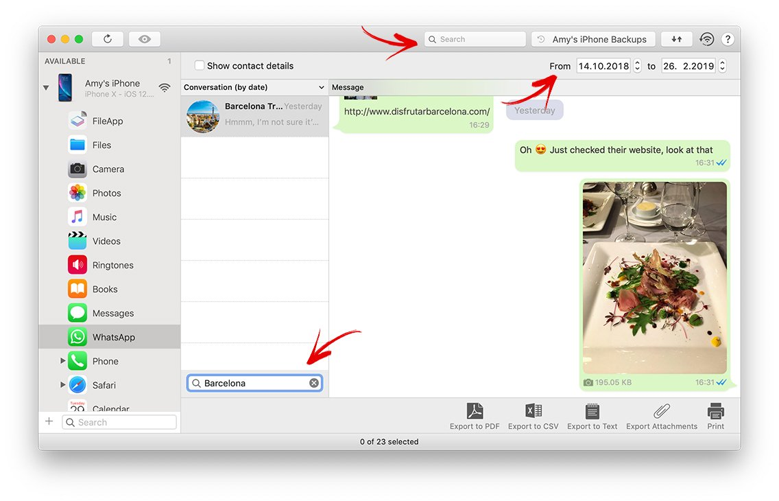 Backup and Export WhatsApp Chats and Attachments from iPhone