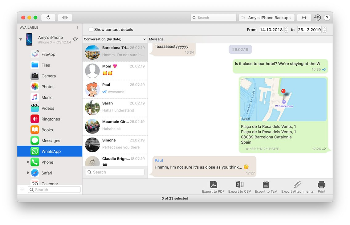 iMazing Adds Export and Printing of WhatsApp Chats, Much More Image