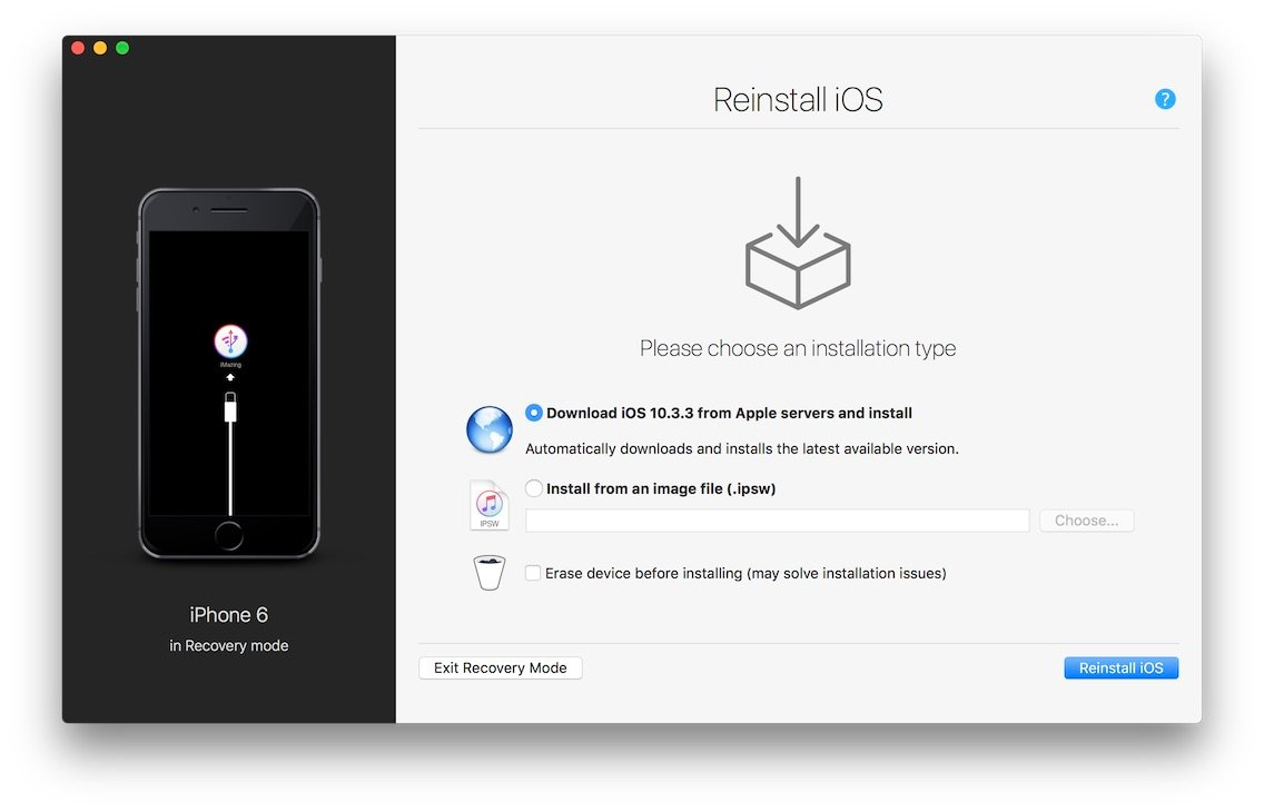 Reinstall or restore iOS on a malfunctioning iPhone or iPad
