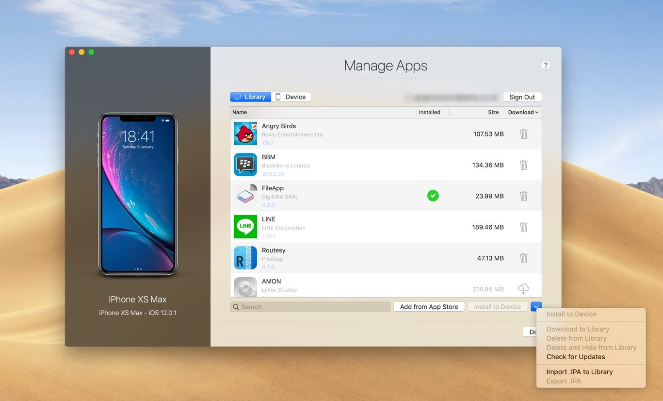 Manage and Download Apps ( ipa) without iTunes
